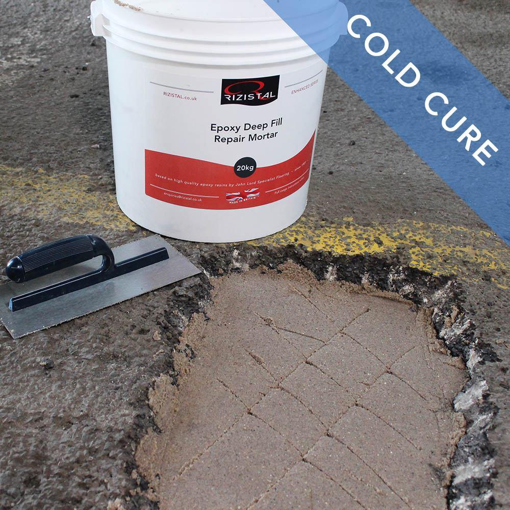 Epoxy Cement Repair : Rizistal deep fill epoxy concrete repair mortar cold cure