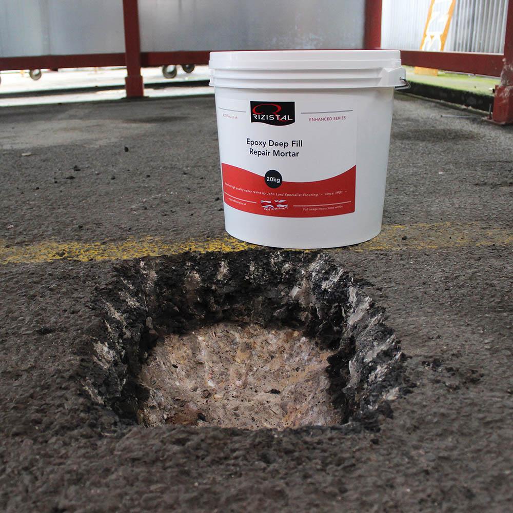 Epoxy Cement Repair : Rizistal deep fill epoxy resin concrete repair mortar