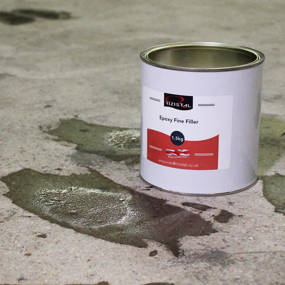 Epoxy Cement Repair : Rizistal epoxy concrete repair fine filler in colours