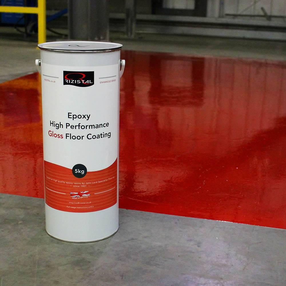 Epoxy Coat Paint : Rizistal epoxy gloss floor paint coating colours