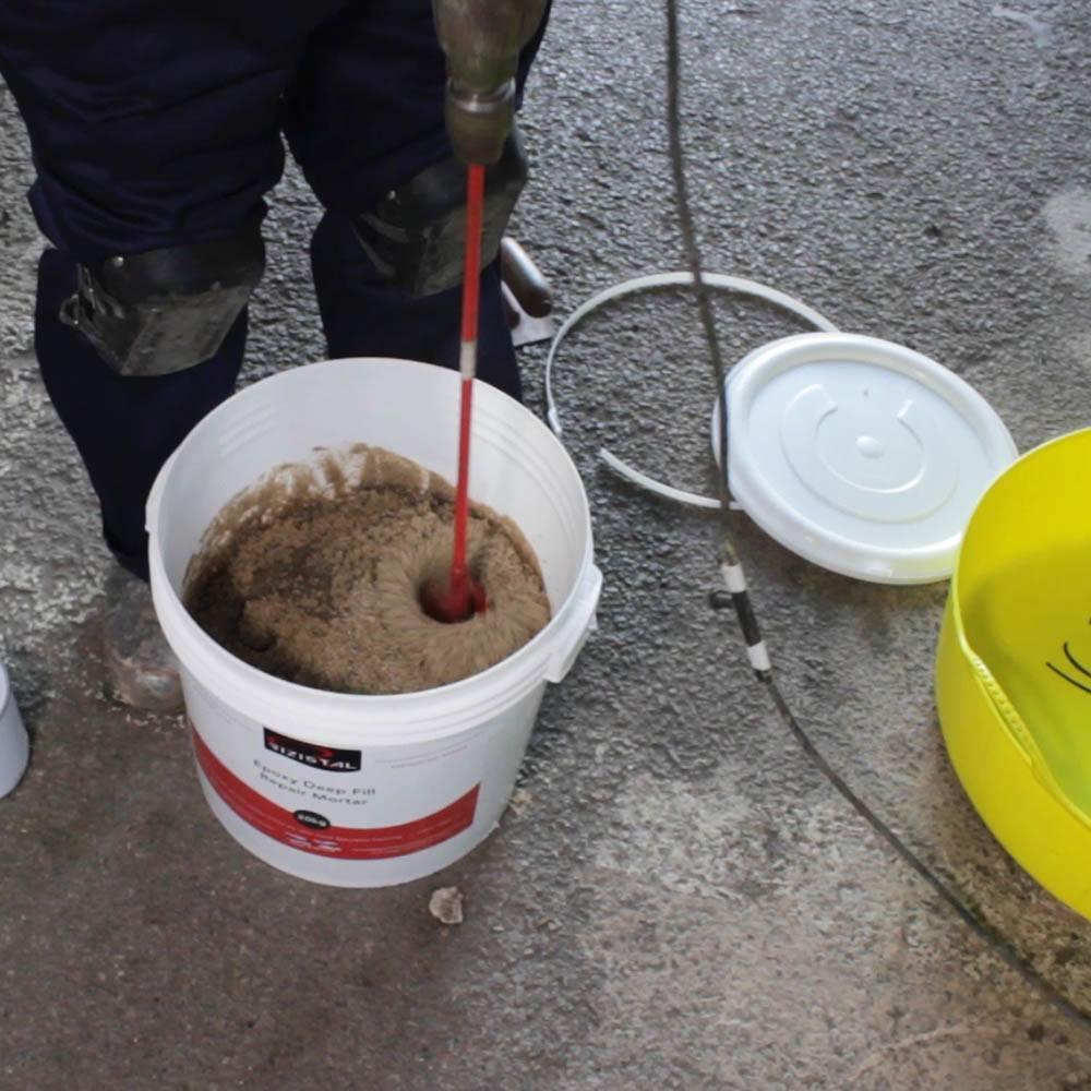 Epoxy Cement Repair : Rizistal deep fill epoxy concrete repair mortar fast cure