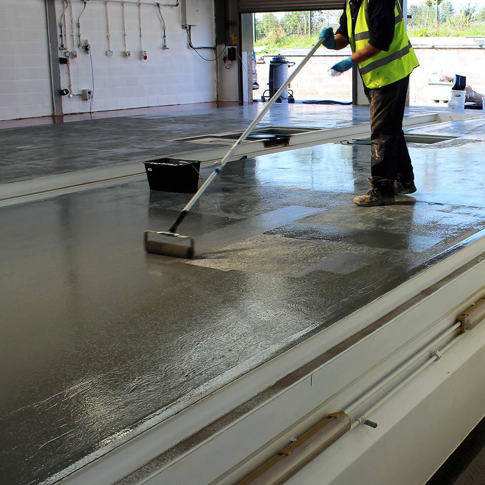 Epoxy Speed Bumps : Rizistal fast cure epoxy floor paint coating colours