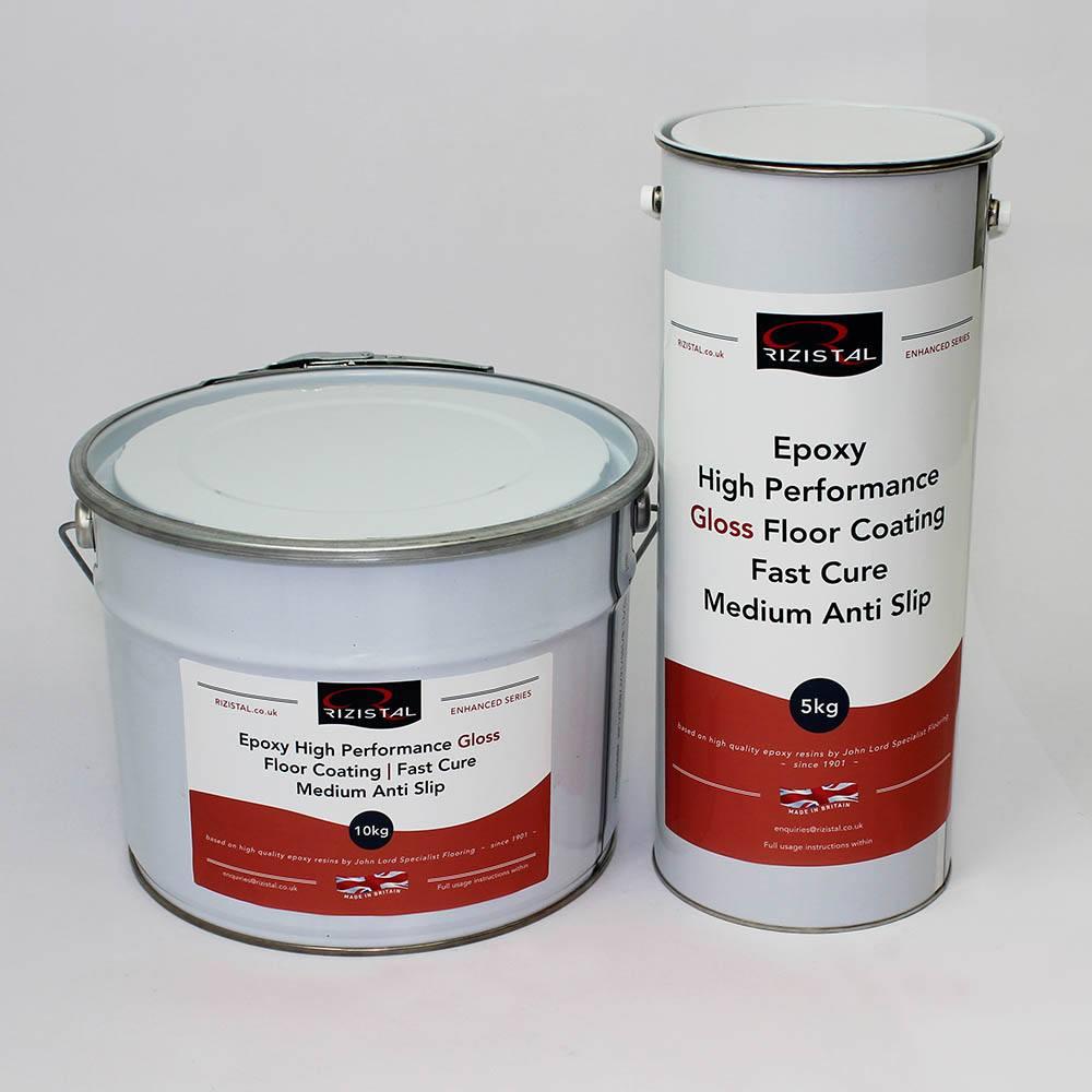 Fast Cure Epoxy : Rizistal epoxy anti slip floor paint coating fast cure