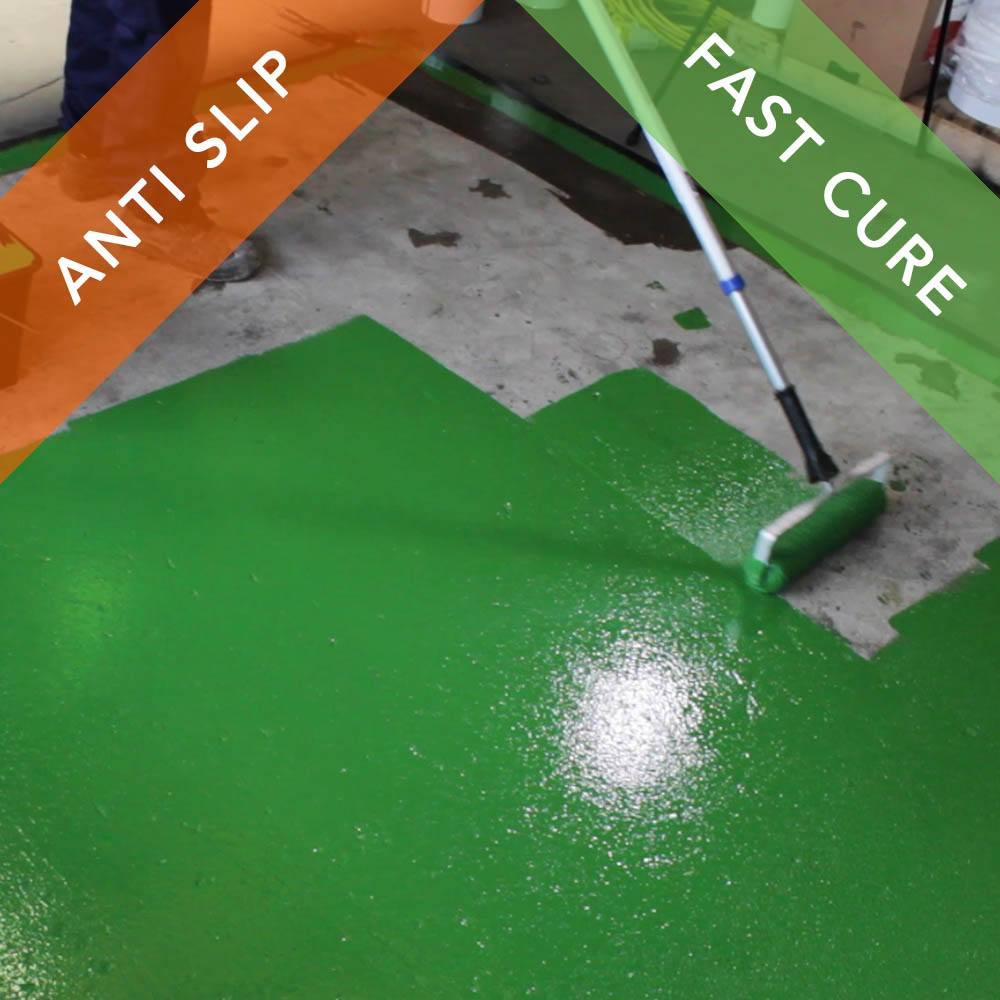 Anti Slip Paint For Concrete : Rizistal epoxy anti slip floor paint coating fast cure
