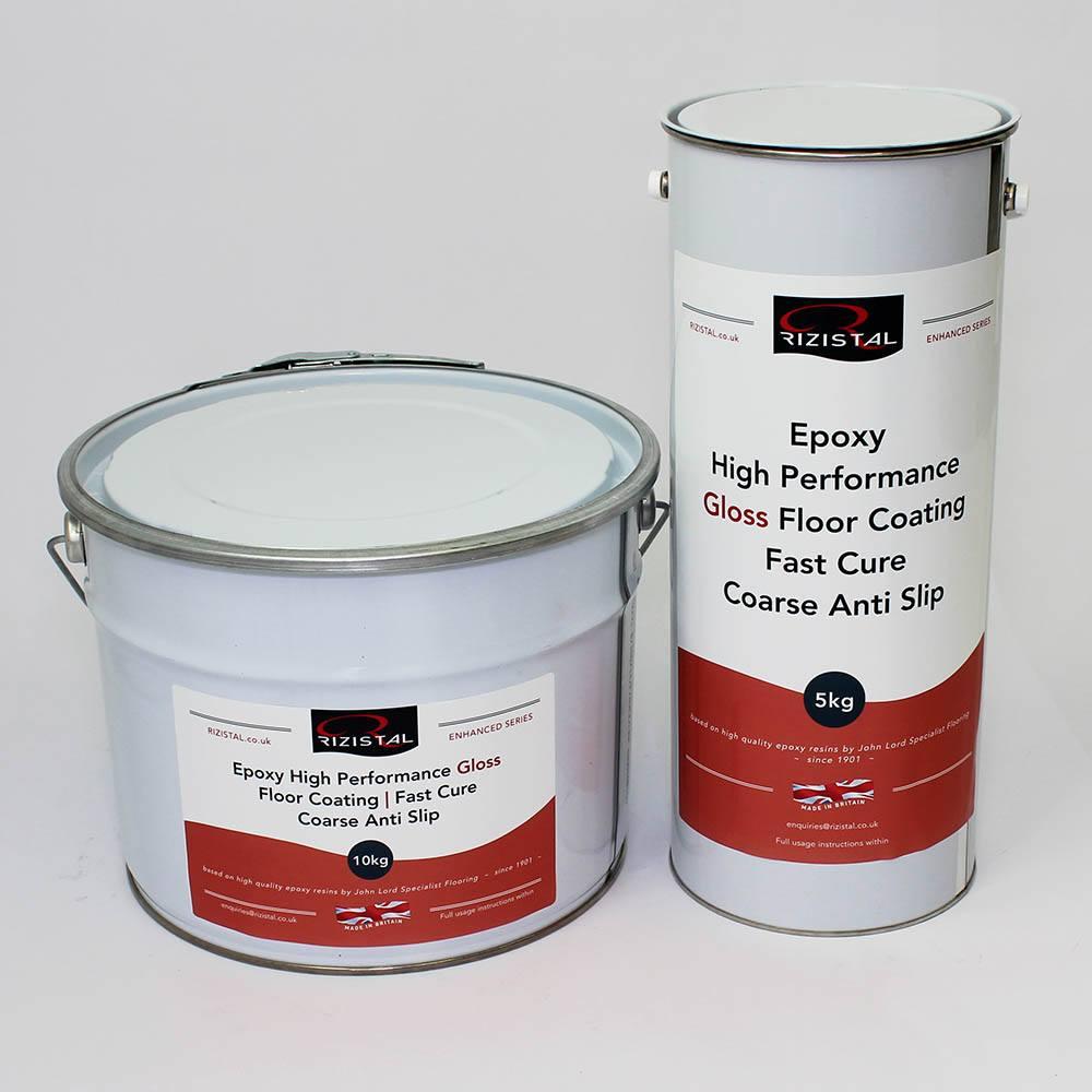 Epoxy Coat Paint : Rizistal epoxy anti slip floor paint coating colours