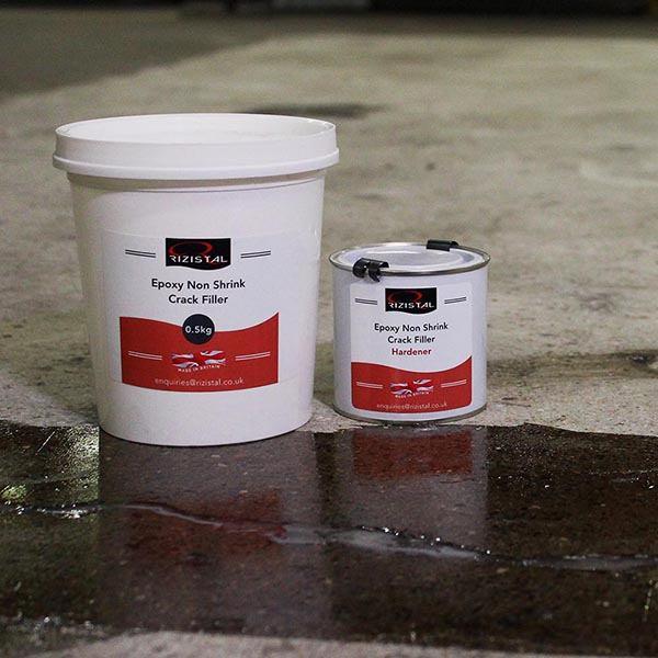Concrete Crack Filler : Rizistal epoxy resin non shrink concrete crack filler