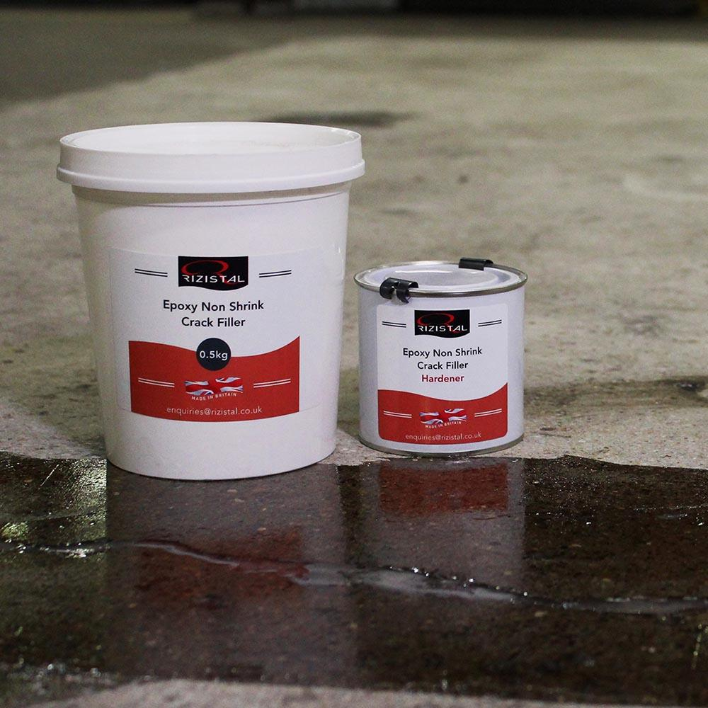 Epoxy Crack Repair : Rizistal epoxy resin non shrink concrete crack filler