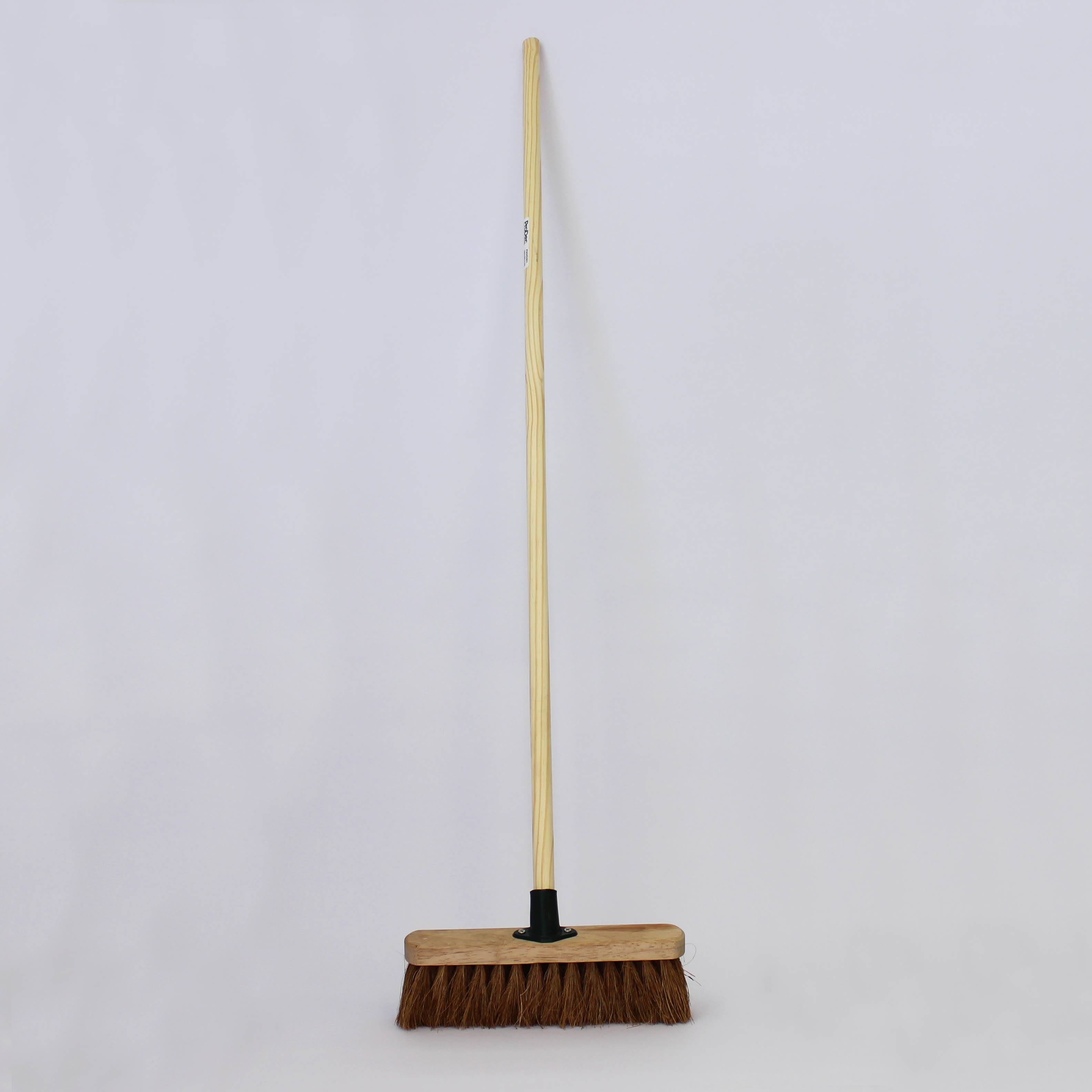 12 Inch Stiff Bristled Wooden Broom Rizistal