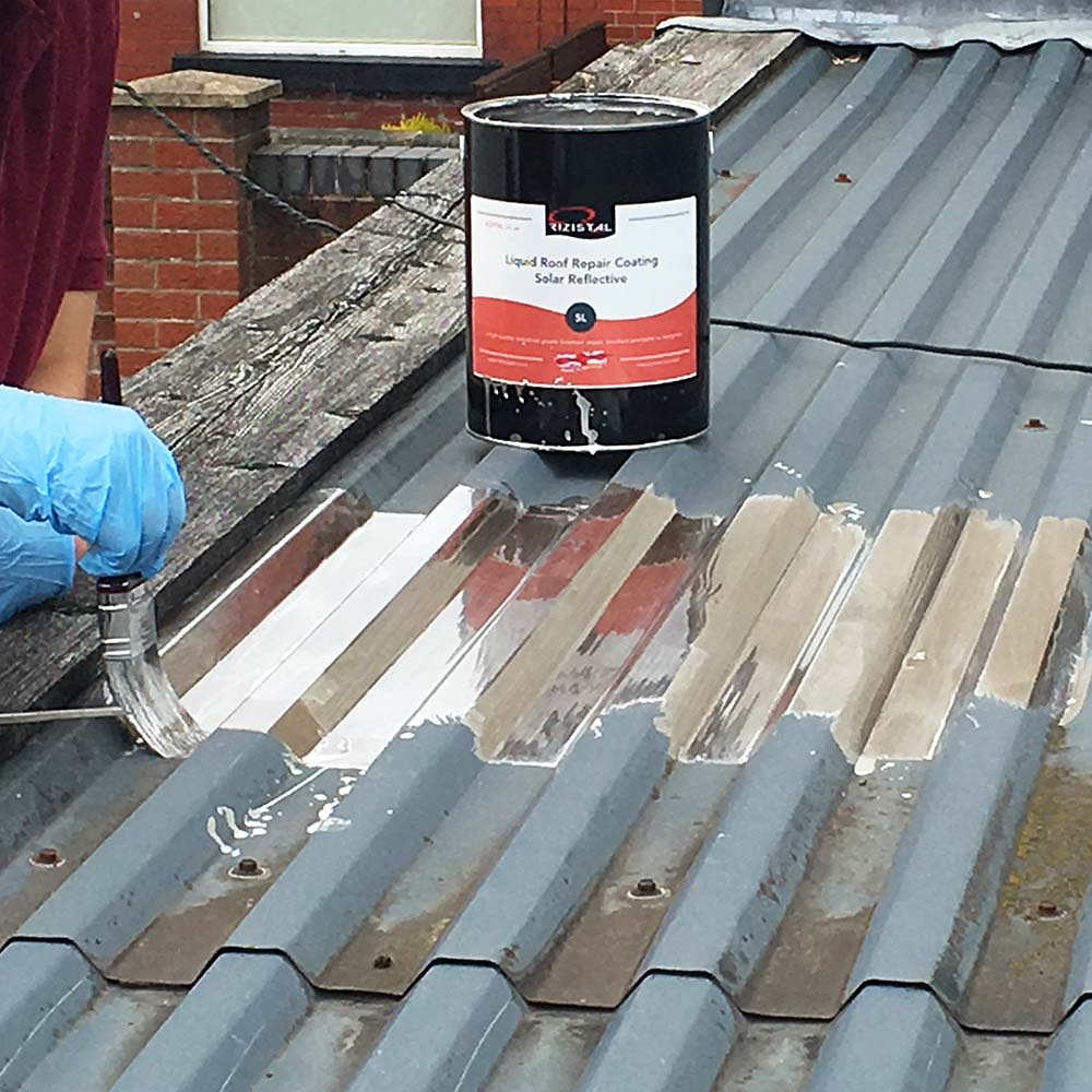 Roof Repair Solar Reflective Liquid Paint Coating Rizistal
